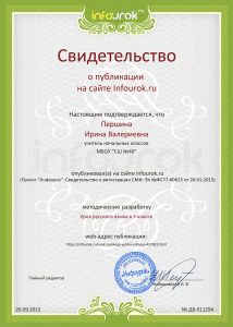 Сертификат проекта infourok.ru № ДВ-011294